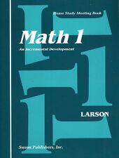 Saxon Math 1 Student Meeting Book First Edition 1st Grade - Homeschool - NEW!