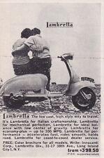 1961 LAMBRETTA SCOOTER  ~  VERY RARE SMALLER ORIGINAL AD