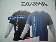 Team Daiwa T Shirt  Langarmshirt blau / grau  Größe XL langarm