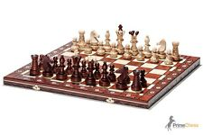 Brand New Huge Hand Crafted Ambassador Wooden Chess Set 54cm x 54cm