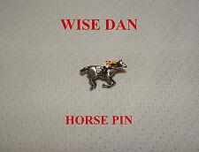 WISE DAN BREEDERS CUP HAND PAINTED HORSE RACING JOCKEY SILKS PIN