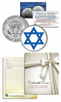 Religious Magen Jewish Star of David Keepsake Gift JFK Half Dollar US Coin