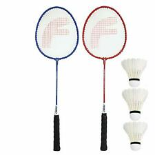 Fighter Aluminum Badminton Racket Set of 2 with- 3 Pieces Feather SHUTTLES