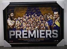 West Coast Eagles 2018 Premiers Signed Offiial AFL Print Frame Hurn - IN STOCK