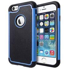 Housses et coques anti-chocs bleu en plastique rigide iPhone 6 Plus pour téléphone mobile et assistant personnel (PDA)
