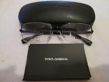 Dolce & Gabbana black semi-rimless glasses frames. DG 5107. With case.