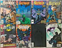 BATMAN#446-663 VF/NM LOT 1990 (8 BOOKS) DC COMICS