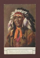 USA ethnic native INDIAN Hiawatha Finnemore Eagle Feathers c1900s Plain Back