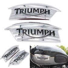 ABS Chrome Gas Tank Emblem Badge For Triumph Bonneville Scrambler Thruxton 900
