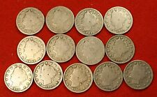 1900-1912 LIBERTY V NICKEL G+ FULL RIMS COLLECTOR 13 COINS NICE QUALITY LN550
