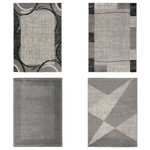 Modern Rug Grey Small Large Extra Large Runner Living Room Geometric 160 x 230