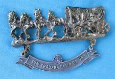 LIONS CLUB PIN: VA PIN TRADERS Confederate SUPPLY WAGON (4 HORSES)