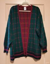 Sweaters USA Inc Women's Plus Size Large Green Check Open-front Sweater Skirt