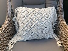 MACRAME CUSHION COVERS 40cm SQUARE