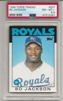 1986 TOPPS TRADED # 50T BO JACKSON, ROOKIE, PSA 8.5 NM-MT+,  K.C. ROYALS L@@K !