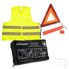 Pannen-Set Nr.3 Warnweste Gelb + Verbandtasche +Warndreieck Erste Hilfe Auto PKW