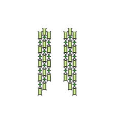 4.86ct Natural Peridot Baguettes Emerald 925 Silver Chandelier Earrings Jewelry