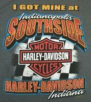 Harley Davidson  Motorcycles T Shirt Men's XL Indianapolis Indiana Southside