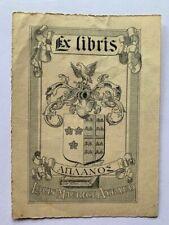 Ex-Libris AYRAUD Louis Maurice, A0683, 20è, 100 x 62 mm
