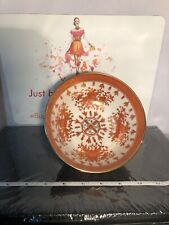 Collectible Japanese Porcelain Ware Hand Decorated Hong Kong Orange Floral Bowl