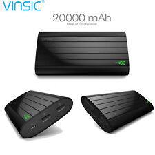 Vinsic 20000mAh Power Bank Dual USB 2.4A Fast Charging Charger for Cell Phone
