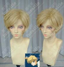 Sailor Moon Sailor Uranus Dark Blonde Tenoh Haruka Short Cosplay Party Wig Hair