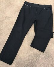 "Wrangler Casual TEXAS Straight Fit Denim Jeans Black Waist 40"" Leg 32"""