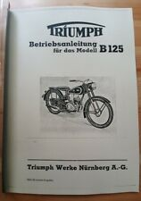 Triumph B-125 - Betriebsanleitung