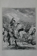 Antique Print by Phiz Chronicles of crime Tirage 1880 Bandits Voyous Meurtriers