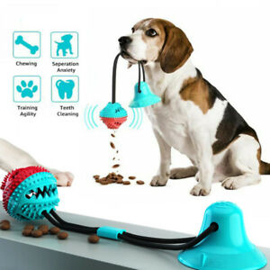 Dog Molar Bite Toy Pet Rope Ball Stick Chew Toys Pet Tooth Cleaning Suction Cup