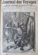 JOURNAL DES VOYAGES N° 461 de 1886 CANADA CHASSE ATTAQUE LOUPS / NOUVELLE GUINEE