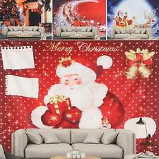 Christmas Tapestry Funny Santa Reindeer Print Wall Hanging Xmas Party Decor New