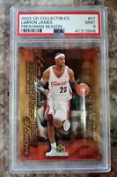 2003 upper deck collectibles #47 LeBron James RC  rookie psa 9 cavs Lakers