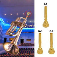 Trumpet Mouthpiece 3C-7C Metal Gold Plated Pratical Instruments Parts Fitting dg