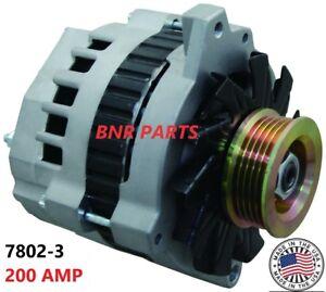200 AMP 7802-3 CHEVY GMC 7.4L TRUCK NEW ALTERNATOR High Output 454 PERFORMANCE