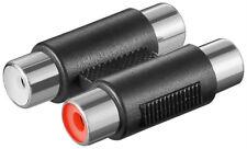 Cinch Audio Kupplung Adapter 2x Chinch Buchse auf 2x Buchse rot weiss HIFI RCA