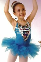 NWT 3 LAYER ORGANDY TUTU #4905 Wolff Fording Turquoise Blue Ballet Dance Girls
