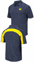 Michigan Wolverines Mens Wellington Synthetic Polo Shirt