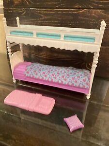 Barbie Sister Bunk Beds LOVE Mattel 2015 Teal Purple Bunkbed Cute Mattel EUC