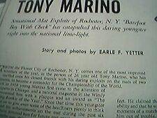 news item 1959 article wrestler tony marino barefoot boy
