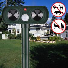 NEW Solar Outdoor Ultrasonic Pest Animal Repeller Garden Cat Dog Fox Repellent