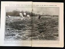 1915 Original 2-Page Newspaper Illustration Black Devil Battery Chasseurs Alpins