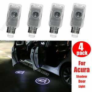 4 Piece Ghost Shaodw Light Car Door Lights Door Step Courtesy Light for Acura