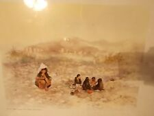 Numbered water color by I.H.Kwon Saudia Arabian scene, signed