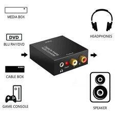 Optical Coax Toslink  Digital to Analog Converter Audio Adapter with Aux 3.5mm