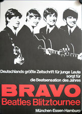 The Beatles Blitztournee NM Konzertposter A2 GEROLLT Bravo Limited art print