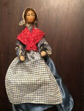 """Antique/Vintage Wax Head Small Doll House Doll 7,5"""" Tall."""