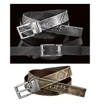 SET OF 2 WEST TIGERS NRL TEAM BLACK & BROWN AUTHENTIC LEATHER BELTS
