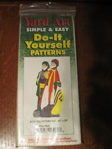 "YARD ART - Simple & Easy - Three Wise Men Pattern - 60"" Tall x 29"" Wide"