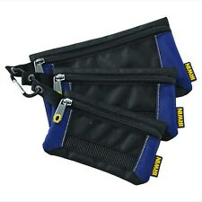 Irwin Tool 3 Pack Small Parts Organiser Bag Pouch Storage Supplies & Items